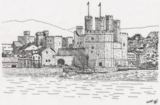 Caernarvon_castle_by_megalobo